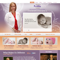 Home page for Houston Fertility Center