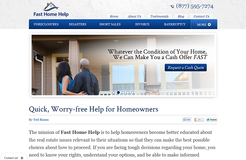 Fast Home Help home page