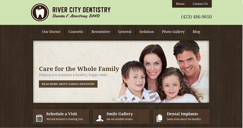 New Einstein Medical website for River City Dentistry in Chattanooga, TN