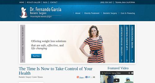 Dr. Fernando Garcia's Bariatric Website - Created by Einstein Medical