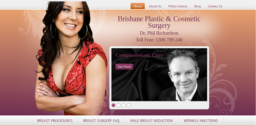 The new Einstein Medical website for brisbaneplasticsurgery.com