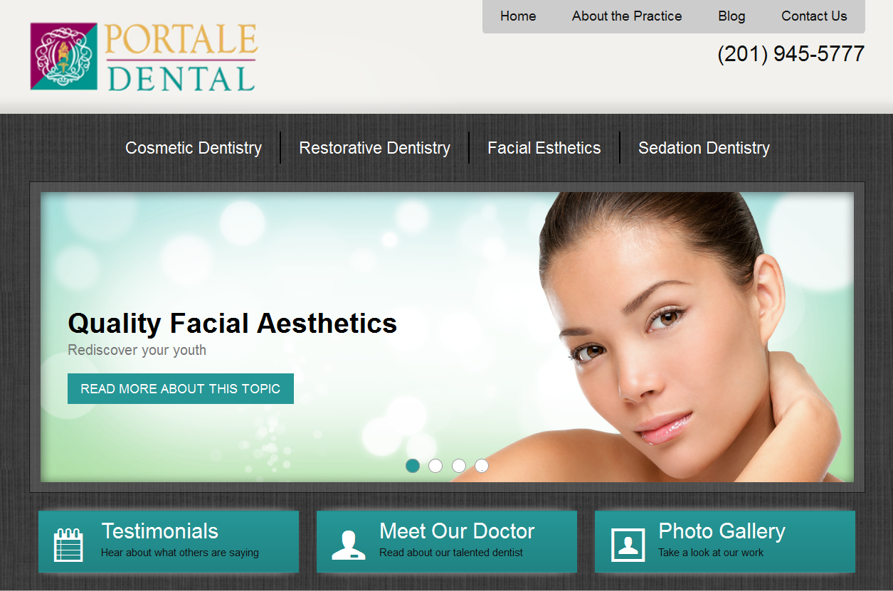 The new Einstein Medical website for Portale Dental