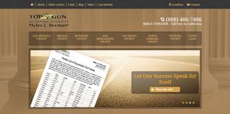 Home page of Myles L. Berman's website, www.topgundui.com