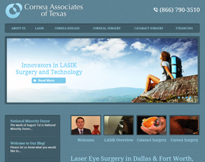 Image of Homepage for www.corneatexas.com