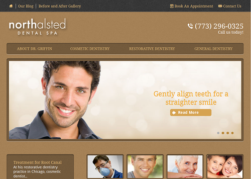 The new Einstein Medical website for North Alsted Dental Spa