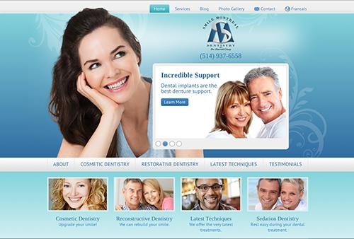 Smile Montreal's New Einstein Medical Website