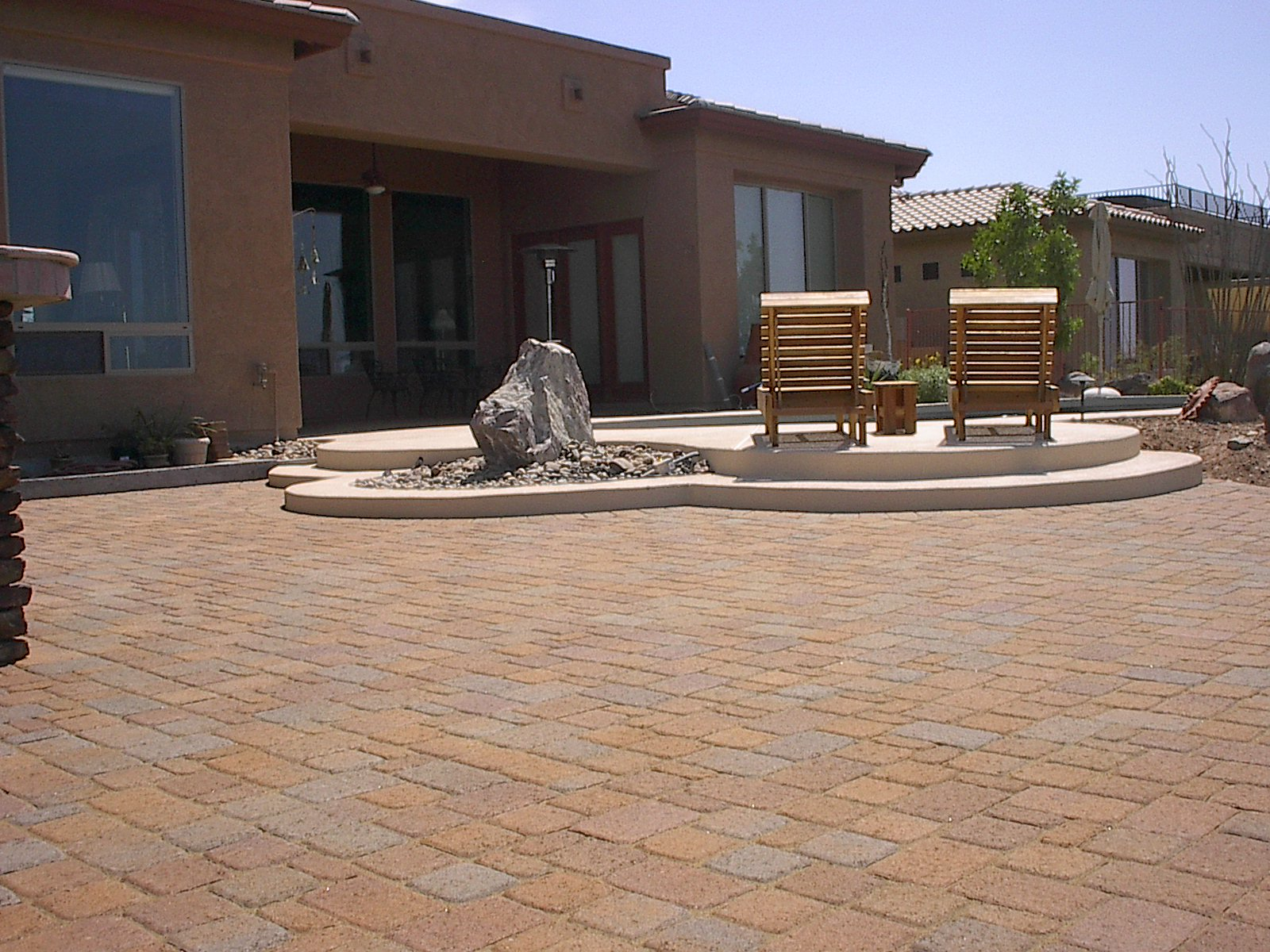 phoenix anthem arizona patio design flagstone pavers