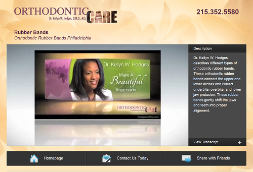 The new video website of orthodontist Kellyn W. Hodges