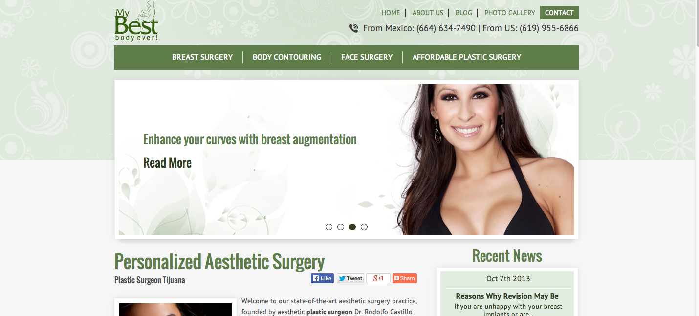 Tijuana Plastic Surgery Website Launch