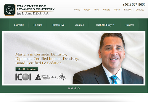 The Einstein Medical website of Dr. Jay L. Ajmo, cosmetic and implant dentist