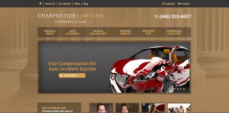 The Charpentier Law Firm Website