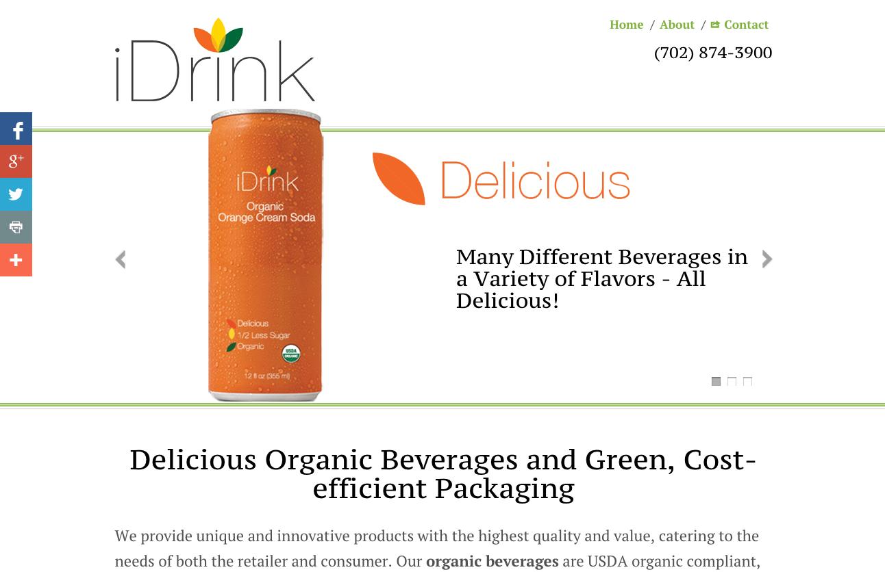 The new Einstein website for iDrink