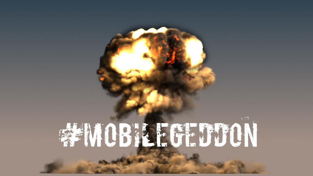 An explosion signifying Mobilegeddon
