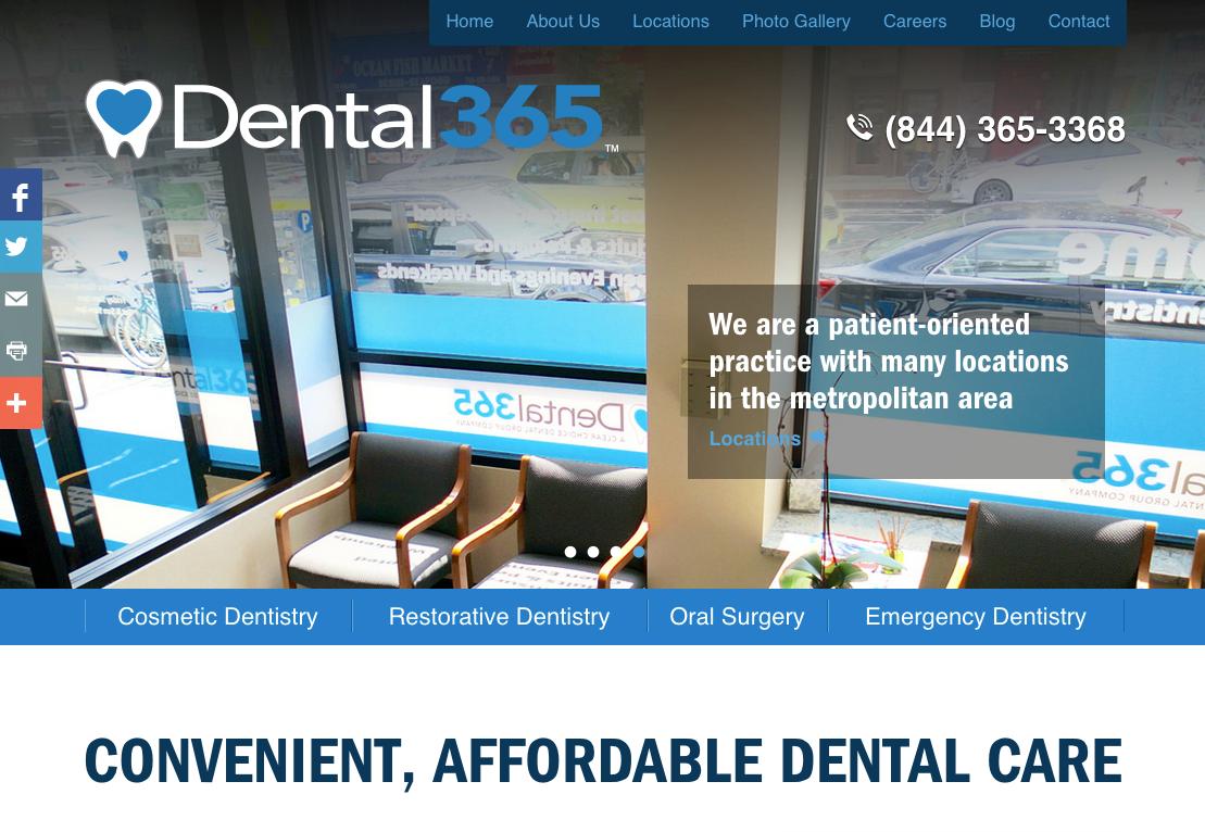 The new Lucid CMS® website for Dental365