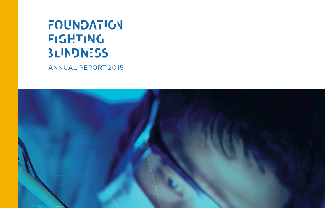 The Foundation Fighting Blindness 2015 Research Report