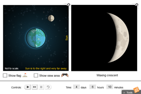 Screenshot of Phases of the Moon Gizmo