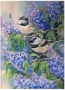 Chickadees by Louise