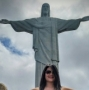 Christ the Redeemer statue in Rio deJaneiro, Brazil where we waited in line for over 2 hours and took 2 bus rides to get from the base to the top ofCorcovado Mountain!