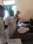 Teaching the nurses in Tanzania