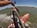 Kitesurfing in Sherman Island