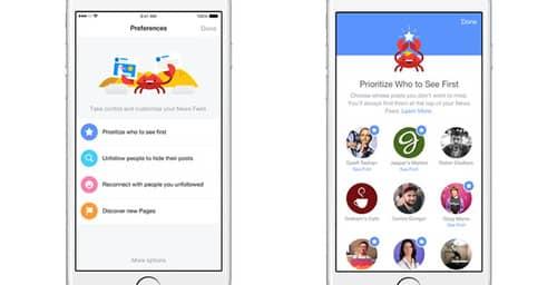 Facebook permite personalizar lo que ves en tu muro