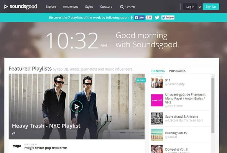 Soundsgood, para escuchar música desde cualquier plataforma