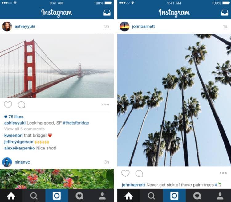 Instagram ya permite subir fotos en formato retrato y paisaje