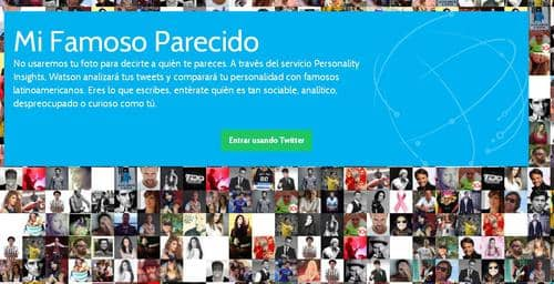 Analízame: Watson Personal Insights de IBM para Mi Famoso Parecido