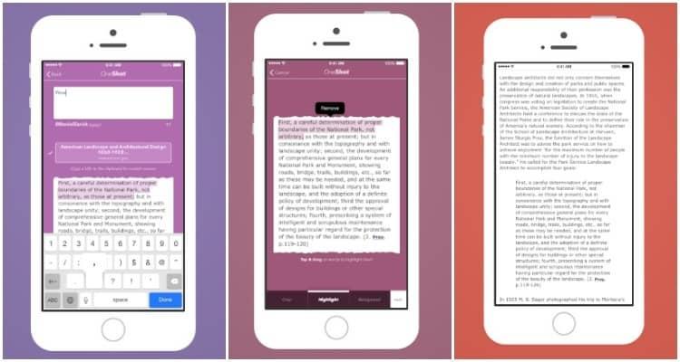 Apps para capturar pantallas de textos en el móvil
