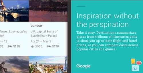 Google Destination planifica tus vacaciones