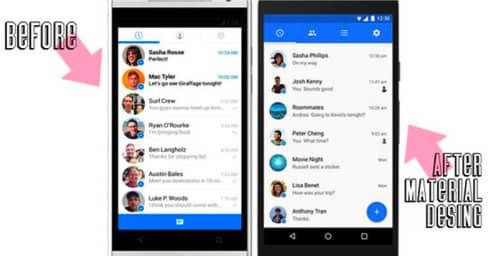 Nuevo diseño para Facebook Messenger