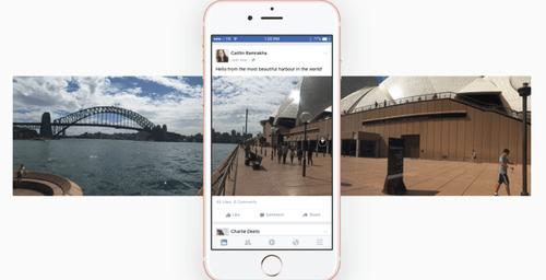 Facebook le da un giro a las fotos ¡Los 360° ya son un hecho!