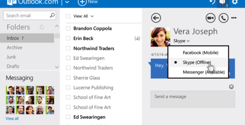Outlook.com mejora la gestión de su bandeja de entrada