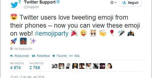 Twitter ahora desde la PC con emoticones