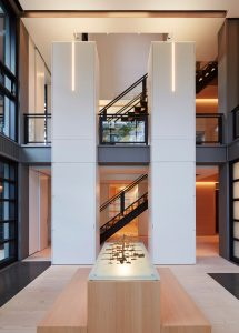 Beautiful automated lighting from Lutron showcases the home