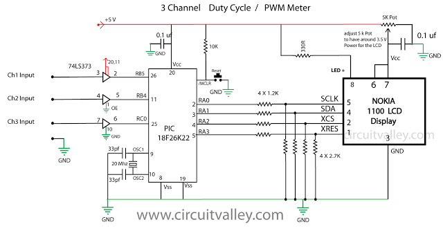 800KHz 3 Channel PWM Meter Duty Cycle Meter