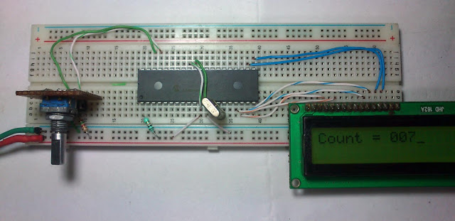 Rotary Encoder Interfacing with PIC Mirocontroller