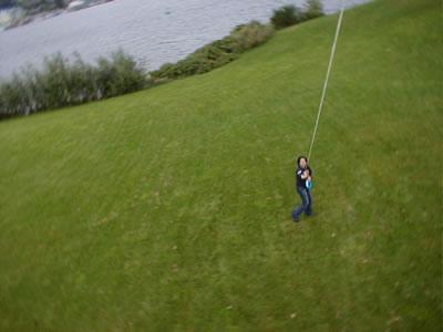 Take digital photos from a kite