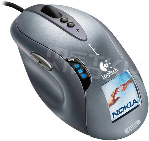 Logitech G5 Laser Mouse and Nokia 6610 Mobile Phone LCD Screen Hybrid