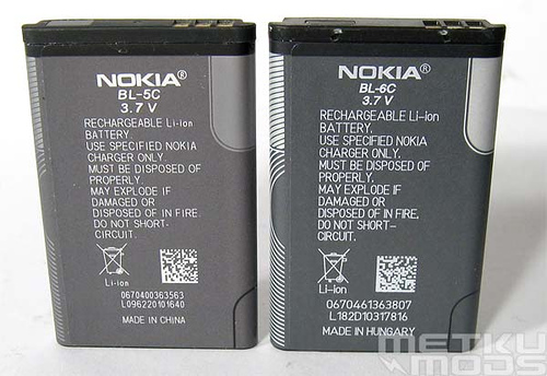 Nokia 6600 battery replacement for more juice