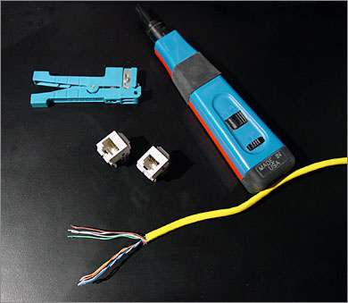 Wire An Ethernet And Phone Jack Using A Single Cat5e Cable