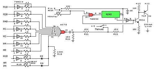 Digital Clock with Timer and Solar Panel Regulator