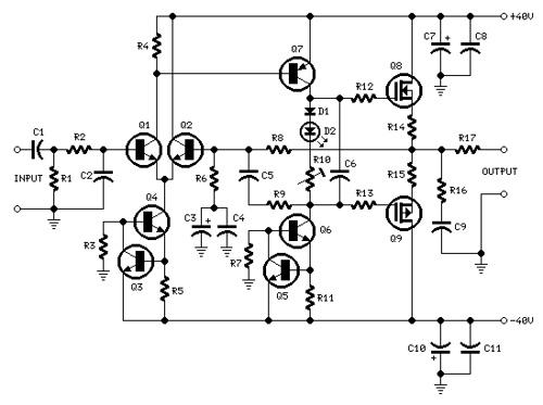 60W MosFet Audio Amplifier