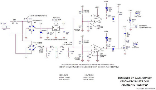 AC Line Under or Over Voltage Alarm