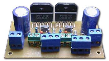 LM3886 Gainclone 2×68 Watt Full Amplifier Project