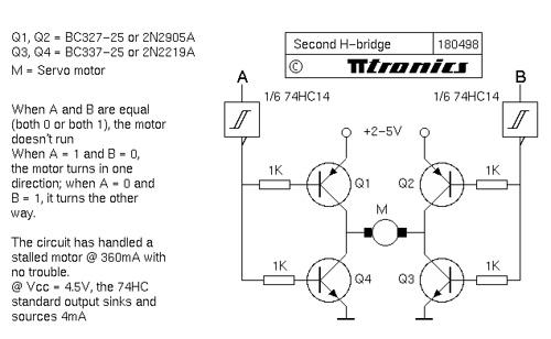 Steve Bolt 4-transistor H-bridge