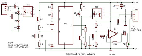 Telephone Line Ring and Indicator