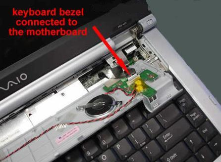 Removing and replacing laptop keyboard