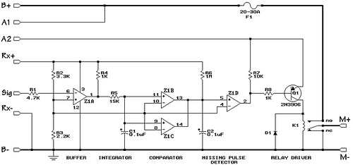 An On and Off Motor Controller with Brake