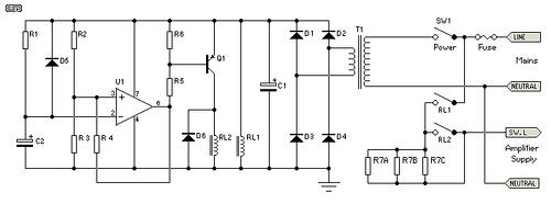 SoftStart Circuit for Power Amps
